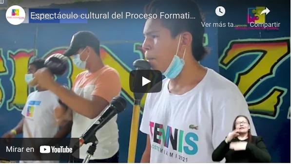 Espectáculo cultural Proceso Formativo en Circo Teatro Zona Bananera